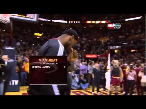Lebron James' introduction met with boos upon his return to Cleveland