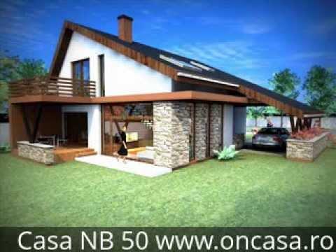 Proiect casa cu mansarda casa nb 50 youtube for Arhitectura case cu mansarda