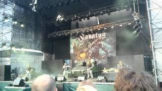 Sabaton - Ešte jedno pivo/Swedish Pagans Live at Amfiteáter, Banská Bystrica, Slovakia, 14.06.2015