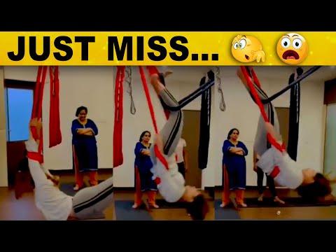 SHOCKING: தவறி விழப்போன BIGGBOSS நடிகை - அதிர்ச்சியில் ரசிகர்கள்..! | Trending Video | GYM Workout