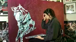 "Hannah Shergold Art - ""The Hunt"""