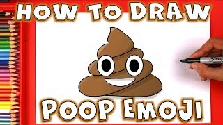 How To Draw The Poop Emoji 💩 Easy Step by Step