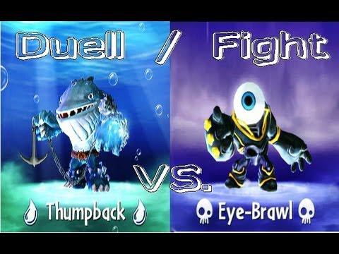 Thumpback 13 vs eye brawl 13 skylanders giants duellmodus german deutsch youtube - Skylanders thumpback ...