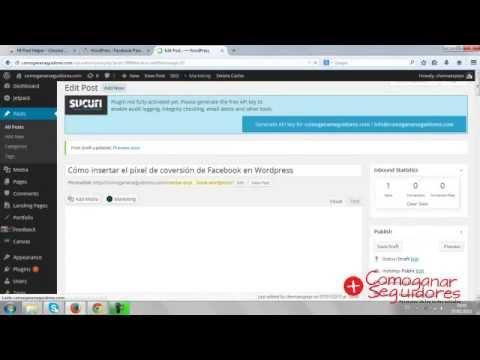 Cómo insertar un pixel de conversión de Facebook en wordpress? - YouTube