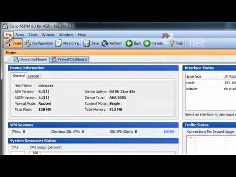 Cisco ASA 5500 System Upgrade via ASDM - YouTube