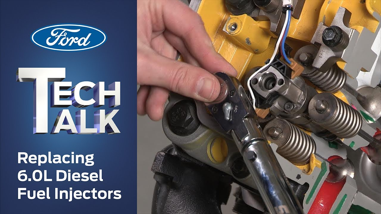 how to replace a ford 6 0l power stroke® diesel fuel injector | ford tech  talk - youtube