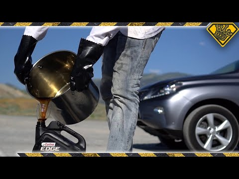 What Happens when Liquid Nitrogen hits Boiling Motor Oil?!! (#ad)