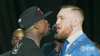 Floyd Mayweather And Conor McGregor Get In Each Other's Grills | ESPN