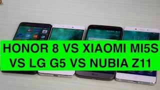 Honor 8 vs Xiaomi Mi 5S vs LG G5 vs Nubia Z11 ITA