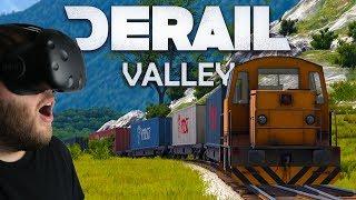 Derail Valley - WE'RE GOING TOO FAST! - VR Train Simulator - Derail Valley Demo Gameplay