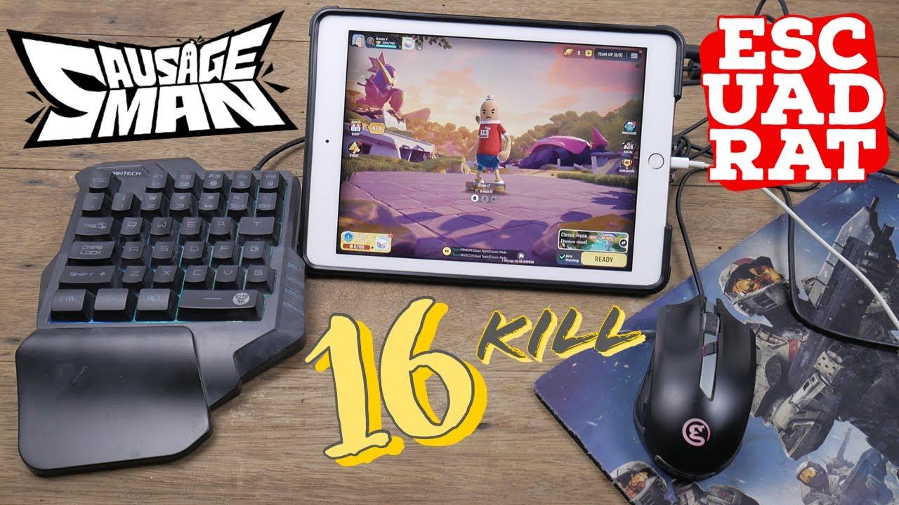 Sausage Man Indonesia, Pertama kali Main Pakai Mouse Keyboard di IPAD, Auto Win 16kill
