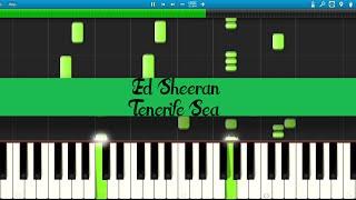 Ed Sheeran - Tenerife sea (Piano Tutorial)