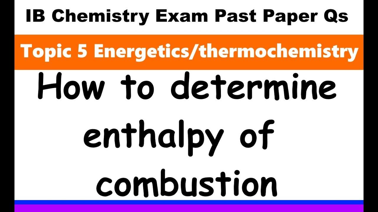 IB Chemistry Topic 5 Energetics - MrWeng's IB Chemistry
