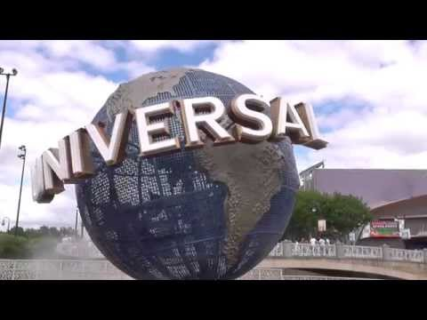 Universal Studios globe in HD with movie pre-roll theme.  Orlando