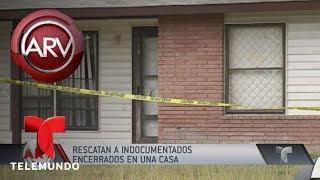Rescataron a indocumentados encerrados en una casa   Al Rojo Vivo   Telemundo