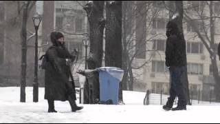 Raw: Snowballs, Sledding in Central Park Snow