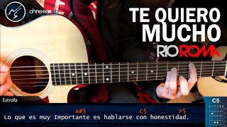 como tocar te quiero mucho de rio roma en guitarra   tutorial acordes christianvib