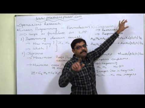 Linear Programming 1 Formulation 1 Basics