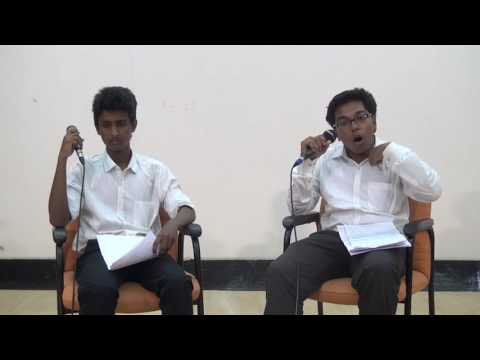 G.S.RAM vs JITTAM BHATTACHARYA for GENERAL SECRETARY - Soapbox NIT Trichy '17