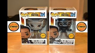 Marvel's BLACK PANTHER & ERIK KILLMONGER CHASE Funko Pop Figures! Unboxing & Review!