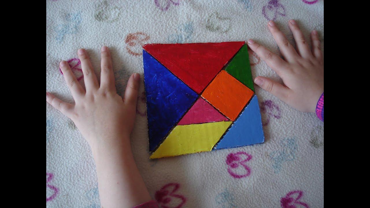 C mo hacer un tangram youtube for Como hacer una pileta de material