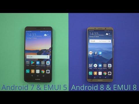 Huawei: EMUI 5 (Android 7) vs EMUI 8 (Android 8) - die Unterschiede!