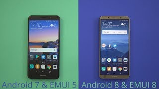 Huawei: EMUI 5 (Android 7) vs EMUI 8 (Android 8) - die Unterschiede!