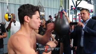 RYAN GARCIA ETHERS DOUBLE END BAG WITH CRAZY SPEED & ACCURACY