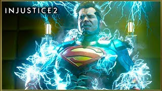 INJUSTICE 2 Todos los Super Ataques Especiales | All Intros, Super Moves, Stages and Victory Poses