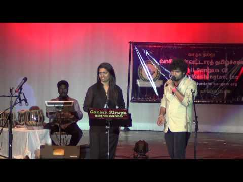 GWTS Muthamizh Vizha 2014 - Music concert by Super Singer Sonia and Diwakar