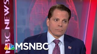 Anthony Scaramucci Reacts To President Donald Trump's Recent Comments | Velshi & Ruhle | MSNBC