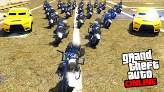 POLICE CHASSE GTA 5 ONLINE