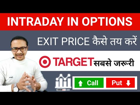 Options Trading में  Intraday Target | How to set target price in options.