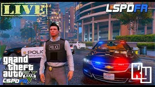 LIVE: GTA 5 LSPDFR Rainy City Patrol (2016 Chevy Impala)