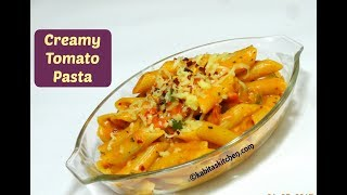 Creamy Tomato Pasta Recipe | Cheese Tomato Pasta | How to Make Red Sauce Pasta | kabitaskitchen