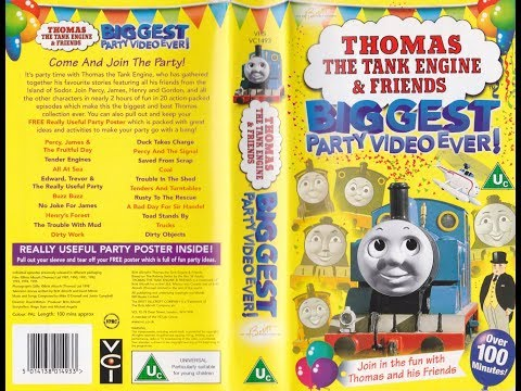 Thomas The Tank Engine: Biggest Party Video Ever (1998 UK VHS)