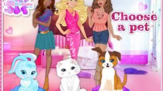 Барби и подружки одевают животных! ОНЛАЙН-Игра ДЛЯ ДЕВОЧЕК