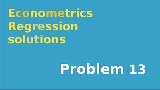 #13  F-test of linear restriction in regression example