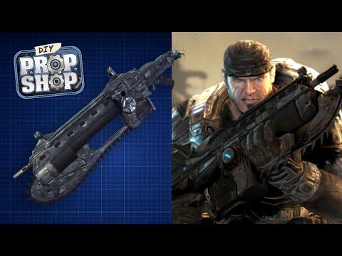 DIY Chainsaw Machine Gun (Gears of War ) - DIY Prop Shop