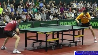 Dimitrij OVCHAROV vs HOU Yingchao FINAL 3of3 Games Russian Premier League Playoff Table Tennis
