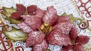 How to create a vellum poinsettia with Heartfelt Creations Sparkling Poinsettia