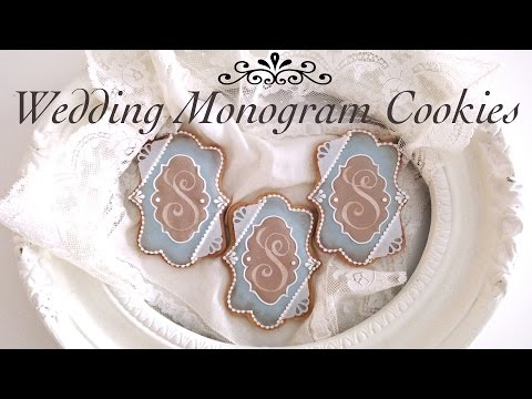 How To Decorate Monogram Wedding Cookies With Royal Icing