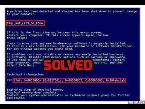 0x000000A5 bios update blue screen error solved windows 7
