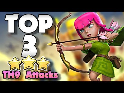 Top 3 BEST TH9 Attack Strategies In Clash Of Clans