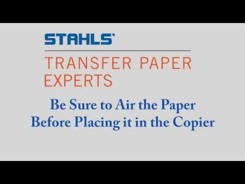 Laser Transfer Paper - Airing Paper Before Printing