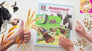 Книга с окошками Животные на ФЕРМЕ. Зачем и почему ДЕТЯМ, АСТ