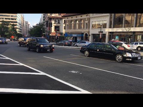 Vice President Pence's Motorcade [HD]