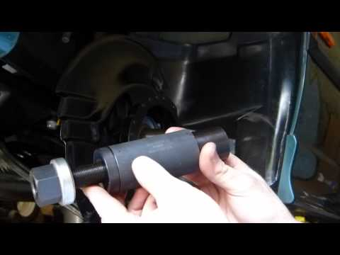 Installing BMW front wheel bearing with BMW special tool