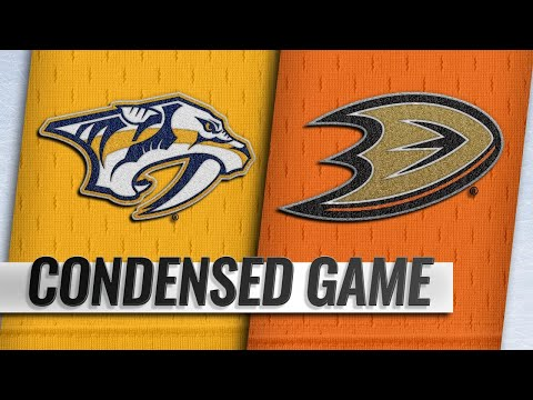 11/12/18 Condensed Game: Predators @ Ducks
