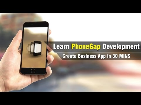 Learn PhoneGap Development | Making Business App In 30 Mins | Eduonix
